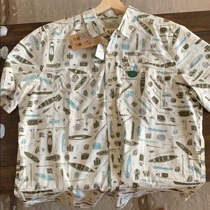 LL Bean Men's Large shirt sleeve button down - NWT